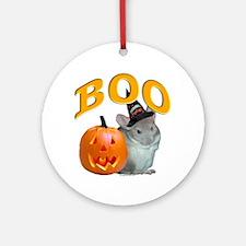 Chinchilla Boo Ornament (Round)