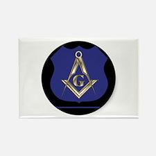 Police Freemason Rectangle Magnet