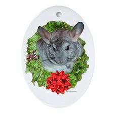 Chinchilla Wreath Oval Ornament