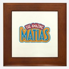 The Amazing Matias Framed Tile