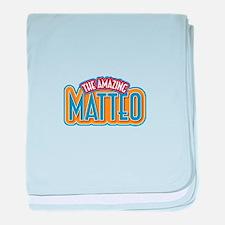 The Amazing Matteo baby blanket