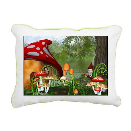 Dwarves Land Rectangular Canvas Pillow