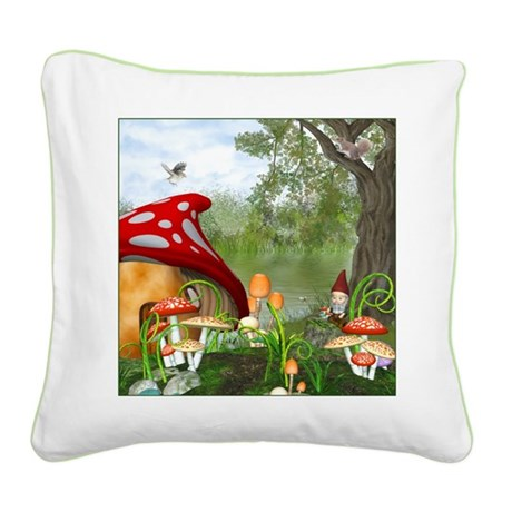 Dwarves Land Square Canvas Pillow