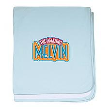 The Amazing Melvin baby blanket
