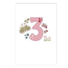 """""""Butterfly Birthday: 3"""" Postcards (Package of 8)"""