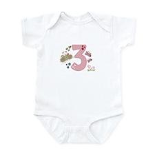 """Butterfly Birthday: 3"" Infant Bodysuit"
