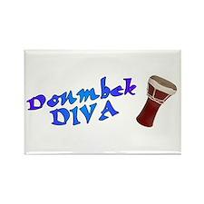Doumbek Diva Rectangle Magnet