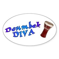 Doumbek Diva Oval Stickers
