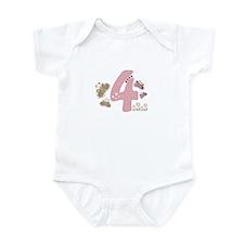 """Butterfly Birthday: 4"" Infant Bodysuit"
