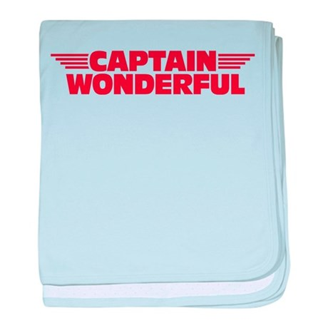 Captain Wonderful Father's Day baby blanket