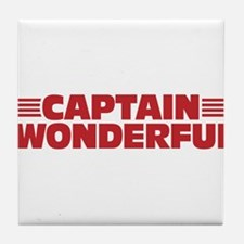 Captain Wonderful Father's Day Tile Coaster