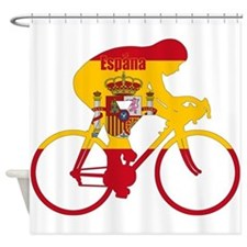Spanish Cycling Shower Curtain