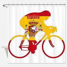 Spanish Cycling Shower Curtain