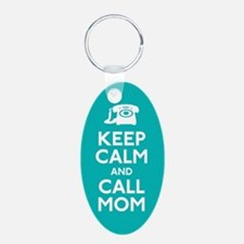 Keep Calm and Call Mom Keychains