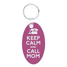 Keep Calm Call Mom Keychain