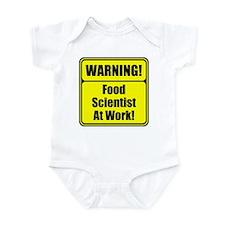 """""""Warning Food Scientist..."""" Infant Bodysuit"""