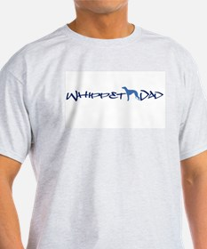 Whippet Dad Ash Grey T-Shirt