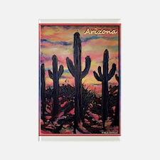 Arizona! Saguaro cactus Rectangle Magnet