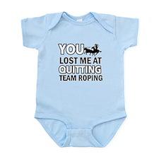 Hardcore Team Roping designs Infant Bodysuit