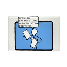 Hang On! (Social Story) Rectangle Magnet