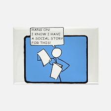 Hang On! (Social Story) Rectangle Magnet