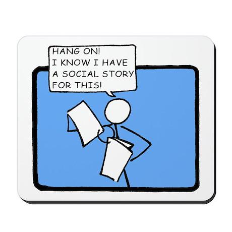 Hang On! (Social Story) Mousepad