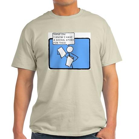 Hang On! (Social Story) Ash Grey T-Shirt