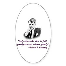 Bobby Kennedy Inspiring Quote Oval Decal