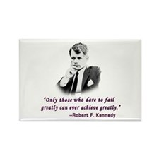 Bobby Kennedy Inspiring Quote Rectangle Magnet