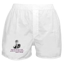 Bobby Kennedy Inspiring Quote Boxer Shorts