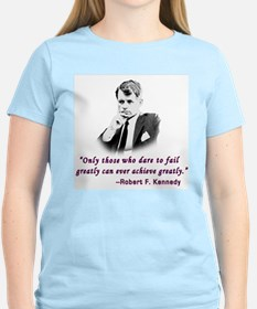 Bobby Kennedy Inspiring Quote Women's Pink T-Shirt
