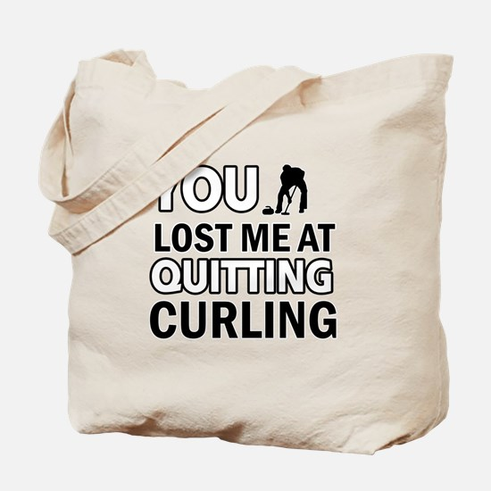 Hardcore Curling designs Tote Bag