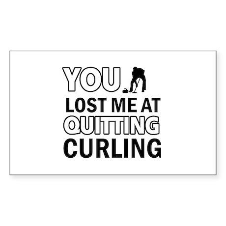 Hardcore Curling designs Sticker (Rectangle 10 pk)