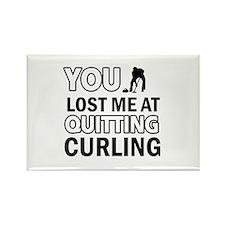 Hardcore Curling designs Rectangle Magnet