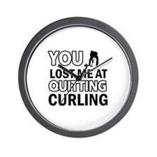 Hardcore Curling designs Wall Clock