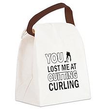 Hardcore Curling designs Canvas Lunch Bag