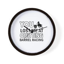 Hardcore Barrel Racing designs Wall Clock