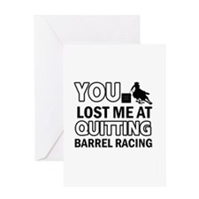 Hardcore Barrel Racing designs Greeting Card