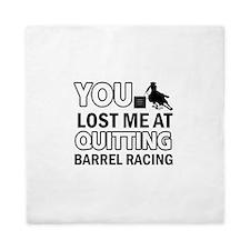 Hardcore Barrel Racing designs Queen Duvet