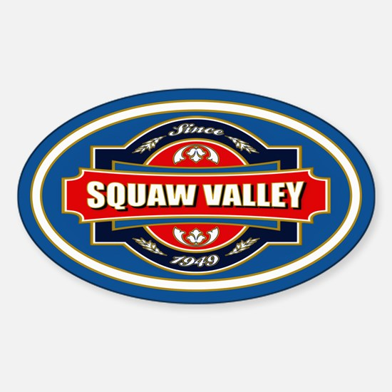 Squaw Valley Old Label Sticker (Oval)