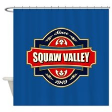 Squaw Valley Old Label Shower Curtain