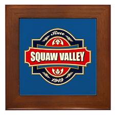 Squaw Valley Old Label Framed Tile