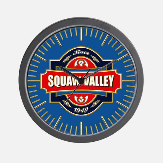 Squaw Valley Old Label Wall Clock