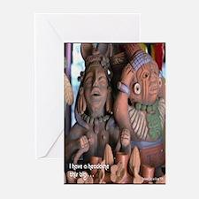 Mayan Headache Greeting Cards (Pk of 10)
