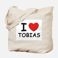 I love Tobias Tote Bag