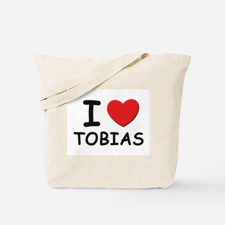 I love Tobias Tote Bag