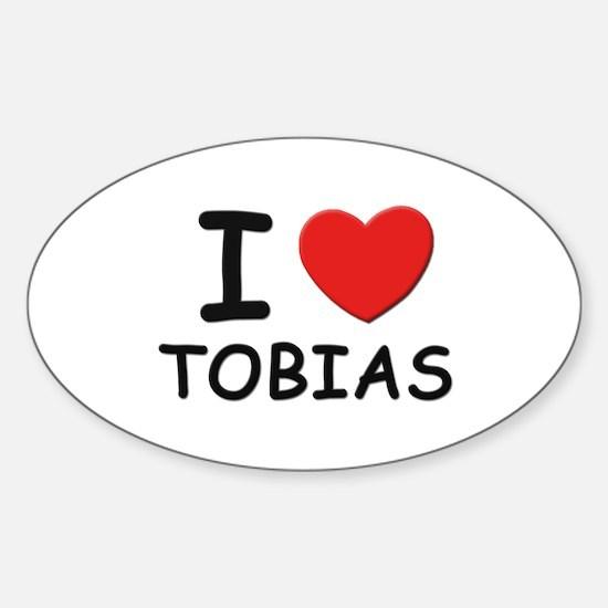 I love Tobias Oval Decal