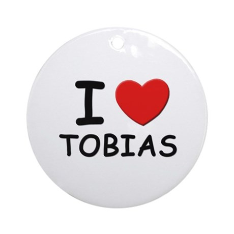 I love Tobias Ornament (Round)