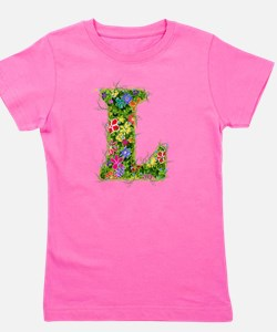 L Floral Girl's Tee