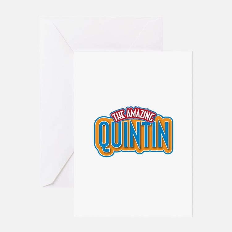 The Amazing Quintin Greeting Card